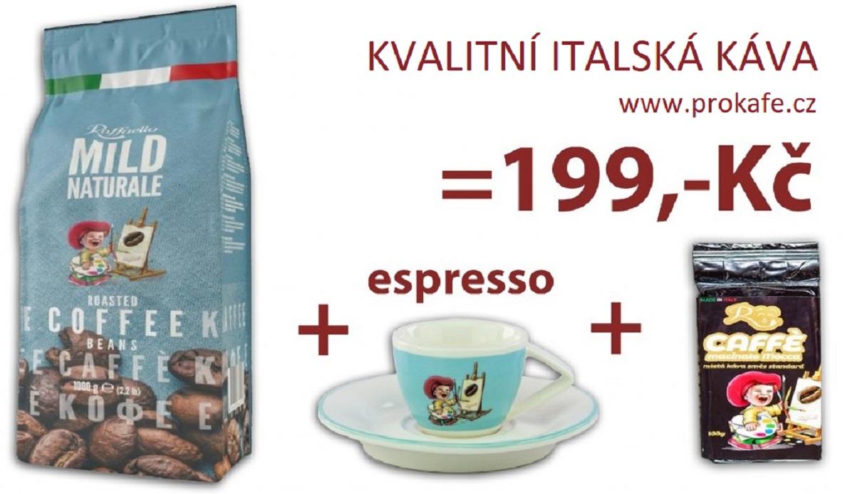 Kvalitní italská káva.