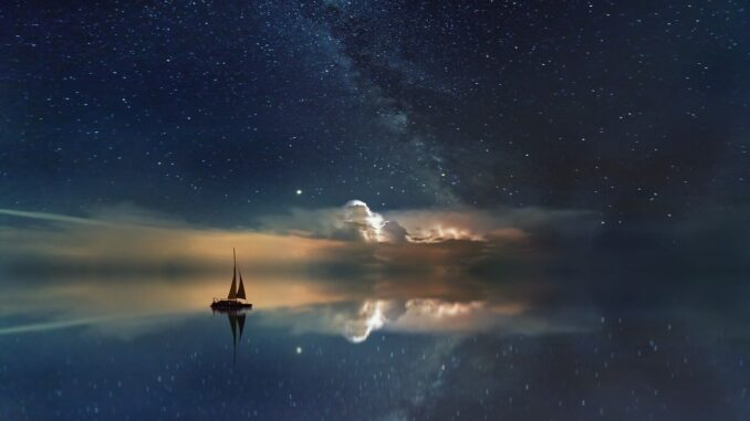 Hvězdná obloha odrážející se
