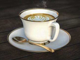 Šálek kávy.