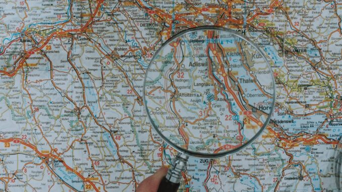 Lupa na mapě