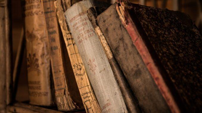 Velké množsvtí strých knih.