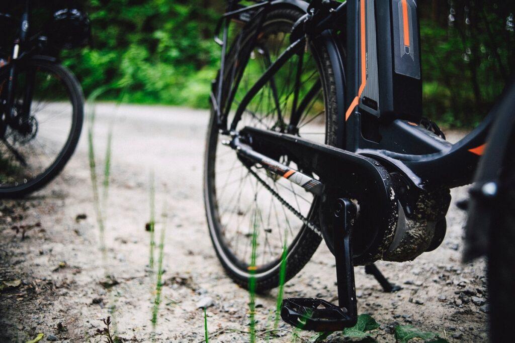 Detail jízdního kola.