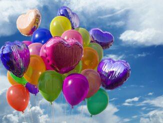 Balonky ve vzduchu.