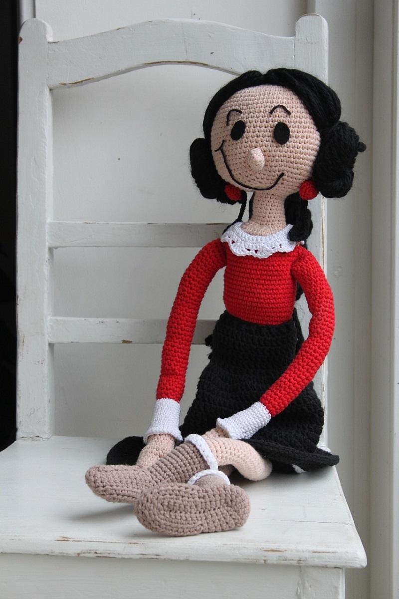 Háčkovaná panenka.