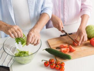 Krájení zeleniny.